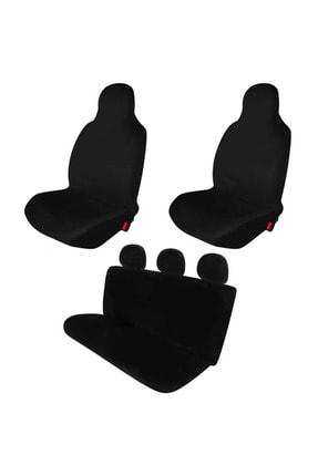 1araba1ev Ford Focus 3 Oto Koltuk Servis Kılıfı Penye Set Siyah 0