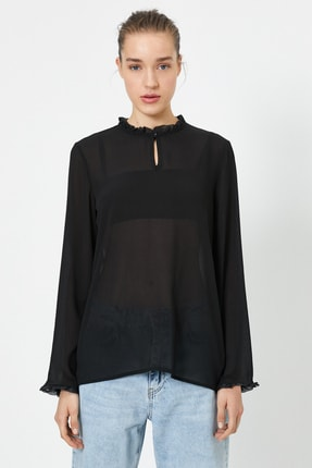 Koton Kadın Siyah Bluz 0YAK66150IW 1