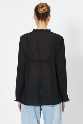 Koton Kadın Siyah Bluz 0YAK66150IW 2