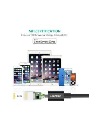 Ugreen iPhone iOS Şarj ve Data Kablosu MFİ Sertifikalı Siyah 1 Metre 2