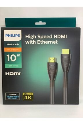 Philips 10 Metre Hdmı Altın Uçlu 4k Ultra Hd Kablo Swl6118h 0