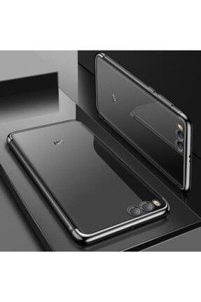 Pickcase Xiaomi Mi 6 Kılıf Dört Köşeli Lazer Silikon Siyah 0
