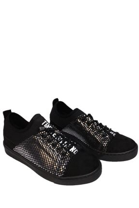 beyzasaylık Kadın Gümüş Detaylı Siyah Casual Ayakkabı 1