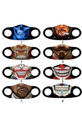 Angelino Moda Maske Kına Dövme Baskı No 33 Yıkanabilir Yetişkin Yüz Maskesi 2