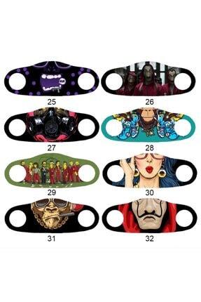 Angelino Moda Maske Joker Baskı No 22 Yıkanabilir Yetişkin Yüz Maskesi 4