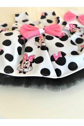 EMBE P Fiyonklu Minie Mouse Elbise Saç Bandı Yada 2 Toka Seçeneğiyle 2