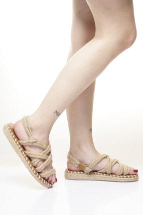 Delos Düz Hasır Sandalet 1