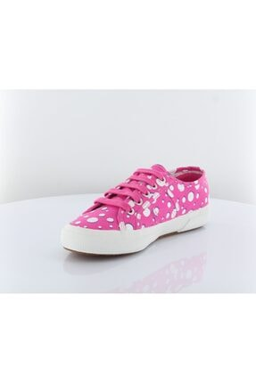 Superga Kadın Pembe Puantiyeli Bağcıklı Sneaker Ayakkabı 2