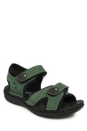 Toddler 7029 Çift Cırt Yeşil Çocuk Sandalet 0