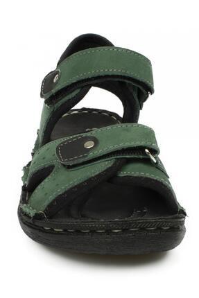 Toddler 7029 Çift Cırt Yeşil Çocuk Sandalet 2