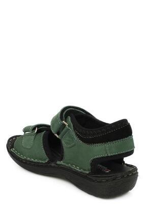 Toddler 7029 Çift Cırt Yeşil Çocuk Sandalet 3