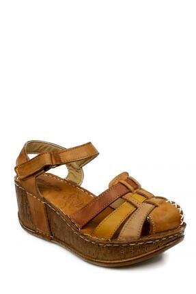 CONSUELO 1430 Yüksek Taban Ön Kapali Taba Kadın Sandalet 0