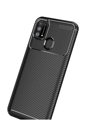 Eiroo Rugged Carbon Samsung Galaxy M31 Siyah Silikon Kılıf 1