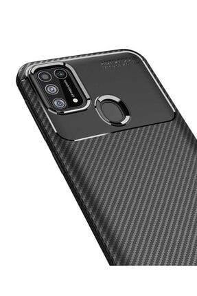 Eiroo Rugged Carbon Samsung Galaxy M31 Siyah Silikon Kılıf 2