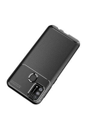 Eiroo Rugged Carbon Samsung Galaxy M31 Siyah Silikon Kılıf 4