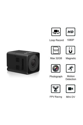 Fs Fpv Mikro Eylem Kamera 160° Hd 1080p Dvr Dahili Mikrofon W/kablo 1