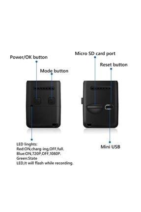 Fs Fpv Mikro Eylem Kamera 160° Hd 1080p Dvr Dahili Mikrofon W/kablo 4