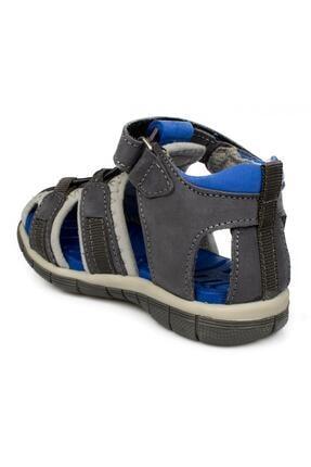 Toddler 7006b Tek Cırt Gri Çocuk Sandalet 3