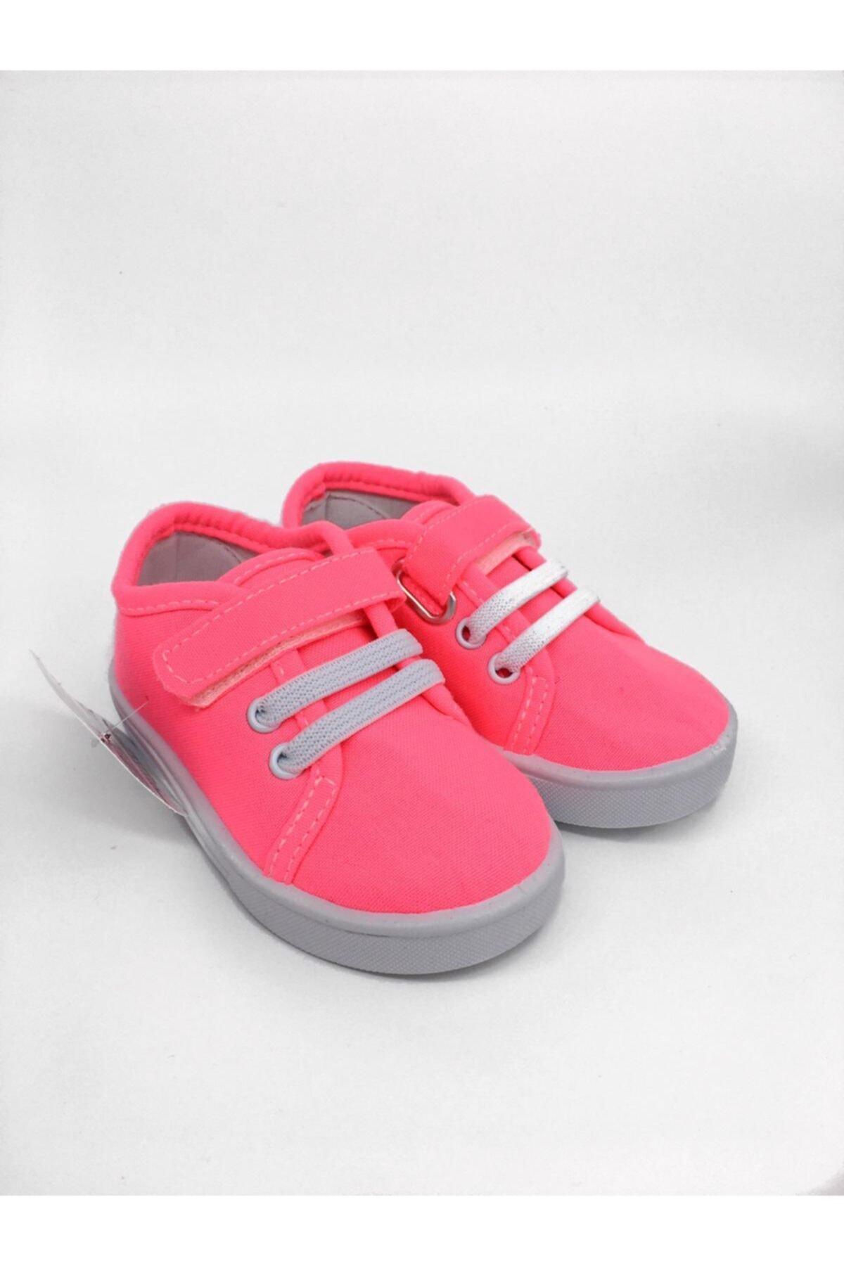 Kız Çocuk Pembe Neon Renk Ayakkabı
