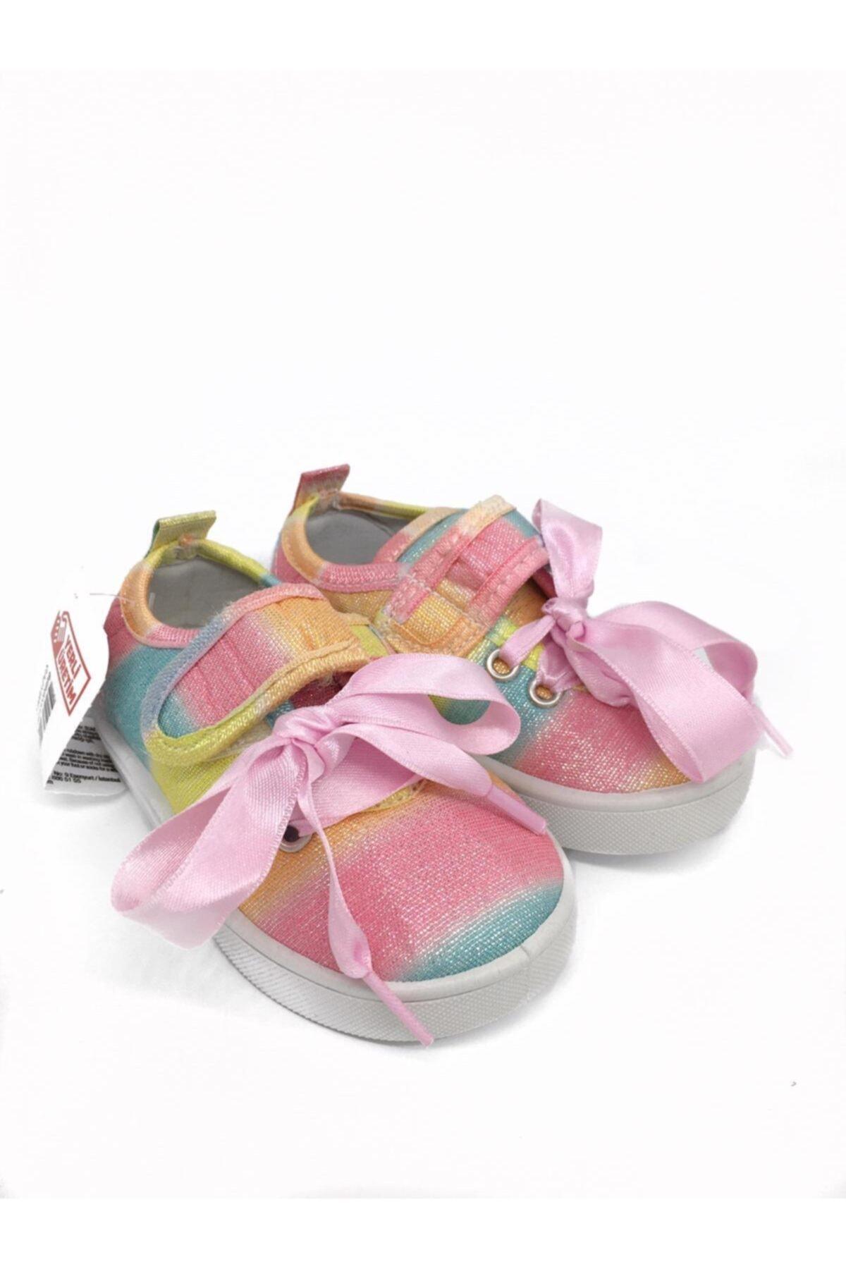 Kız Çocuk Gökkuşağı Bez  Ayakkabı