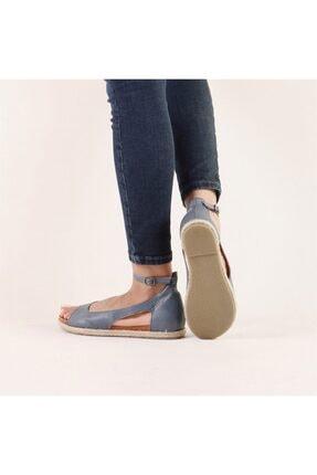 Hammer Jack Kadın Mavi Hakiki Deri Milano Deri Sandalet 236 4032-Z-10049 4