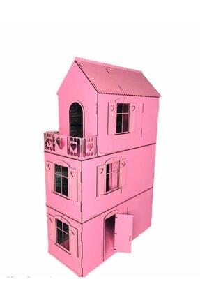 AlibabaPuzzle 3d Ahşap Puzzle Mobilyalı Dev Pembe Barbi Çocuk Evi 3