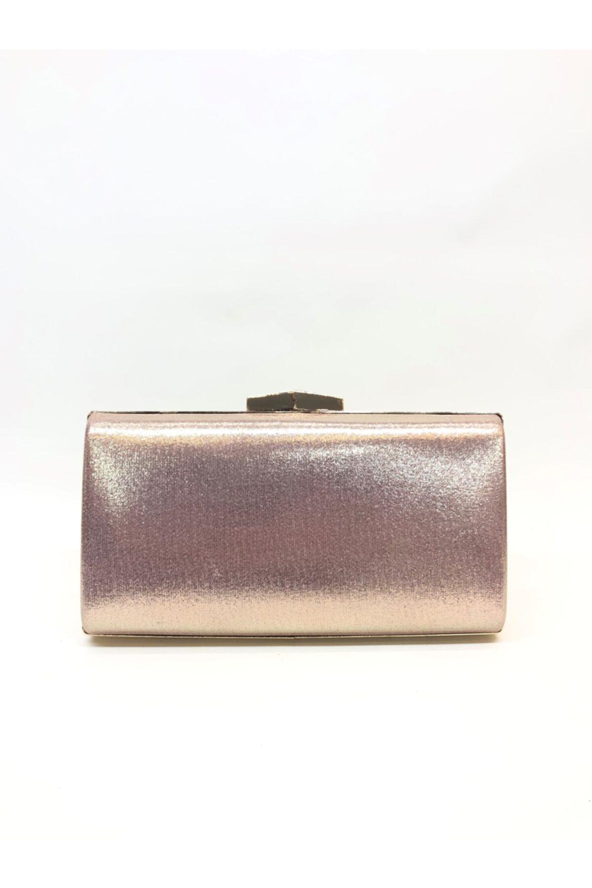 Kadın Rose Rengi Portföy Clutch Çanta