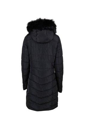 Only Siyah Kadın Montu 15183994-black Onlellan Quilted Hood Fur Coat Otw 1