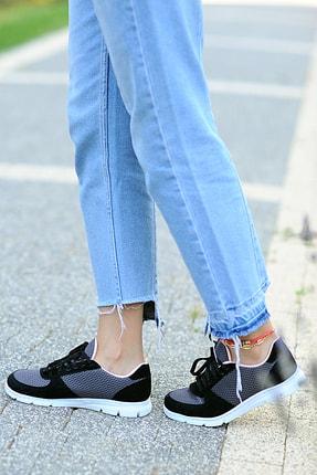 Pembe Potin Kadın Siyah Füme Ayakkabı 1