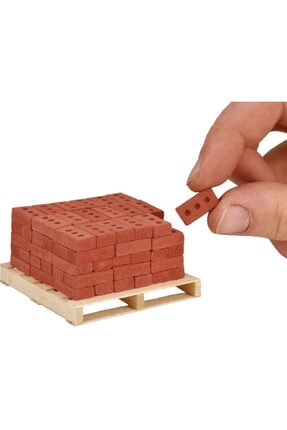 BT SANAT ATÖLYESİ Minyatür Tuğla 3 Delikli 100 Adet - 0