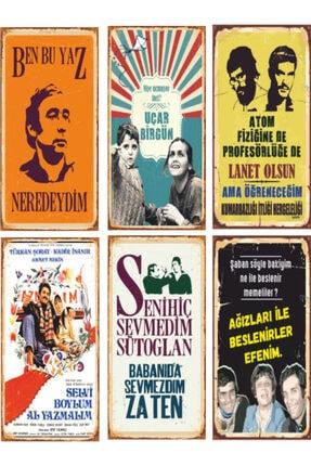 Hayat Poster Yeşilçam Türk Sineması 6lı Ahşap Poster Seti-1 0