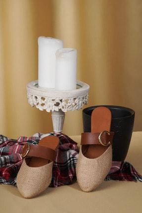 OCT Shoes Hasır Tokalı Kadın Terlik TS1043 1