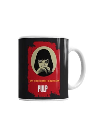 Baskı Dükkanı Pulp Fiction Gooddamn Mia Wallace Kupa Bardak Porselen 0