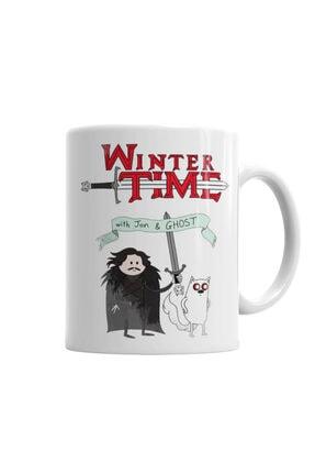 Baskı Dükkanı Game Of Thrones Adventure Time Kupa Bardak Porselen 0