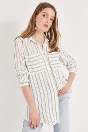 Home Store Kadın Haki Gömlek 20230003072 0