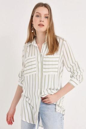 Home Store Kadın Haki Gömlek 20230003072 1