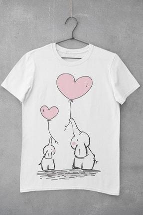 تصویر از Elephant Love Baskılı Kadın T-Shirt