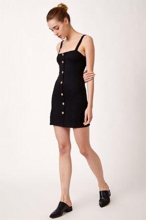 Never more Kadın Düğmeli Askılı Elbise 1