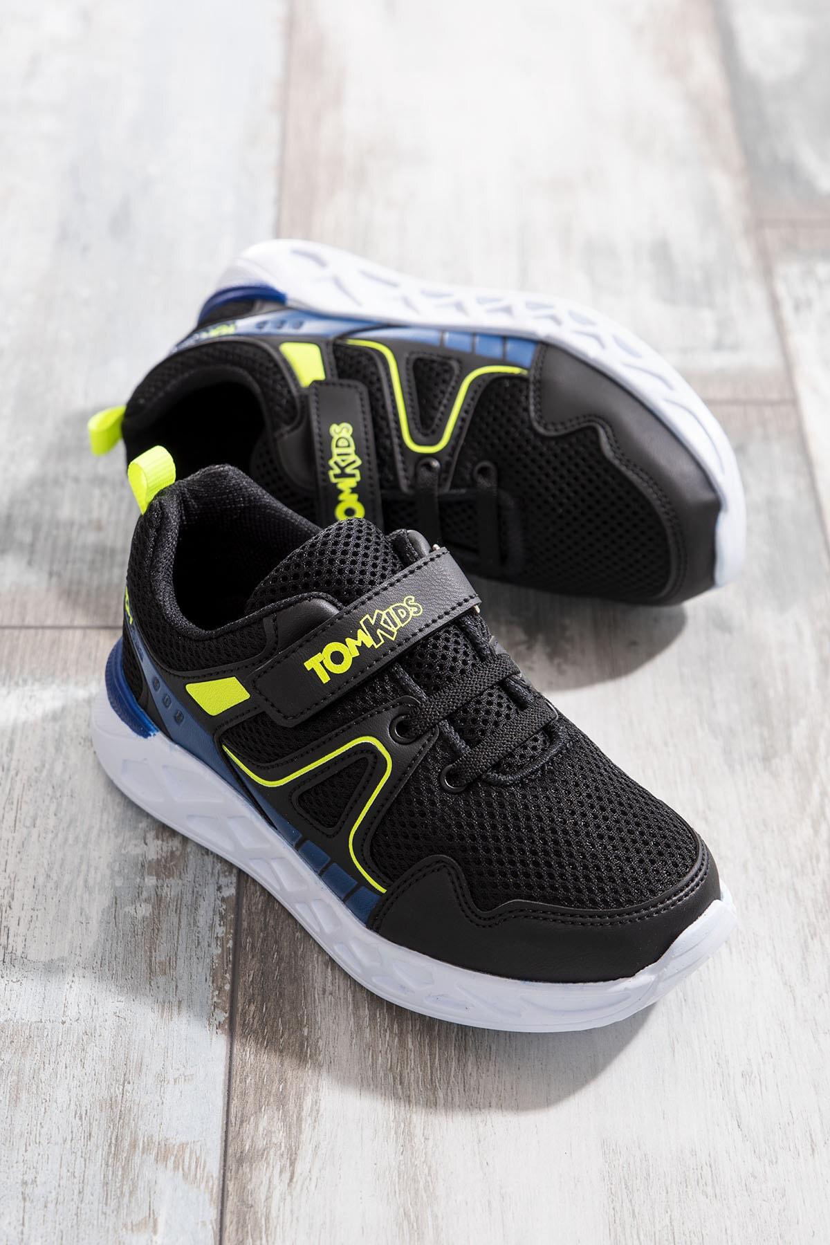 Tonny Black Erkek Çocuk Siyah Spor Ayakkabı TB3401-3 0