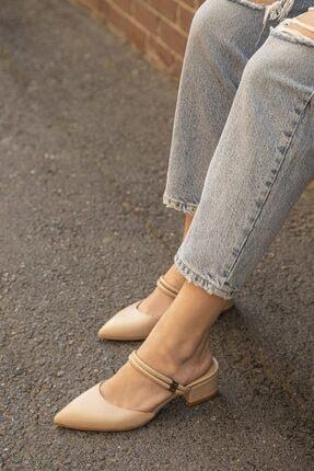 Straswans Kadın Bej  Topuklu Ayakkabı 1