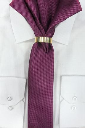 Quesste Accessory Erkek Pembe Armür Dokumalı Noktalı Mendilli Ince Kravat 6 cm 1