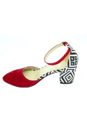 TRENDY Kadın Kırmızı  Bilekten Bağlamalı Topuklu Ayakkabı 100100122 2