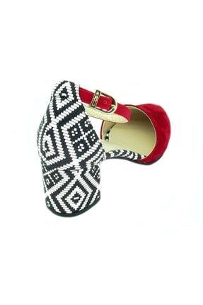TRENDY Kadın Kırmızı  Bilekten Bağlamalı Topuklu Ayakkabı 100100122 3