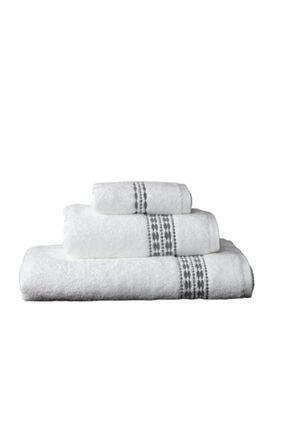 Maisonette Flossy Havlu 30x50 cm Beyaz-gri 0