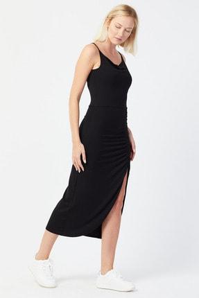 UNV COLLECTION Kadın Ince Askılı Yırtmaç Detaylı Elbise 2
