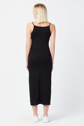 UNV COLLECTION Kadın Ince Askılı Yırtmaç Detaylı Elbise 3