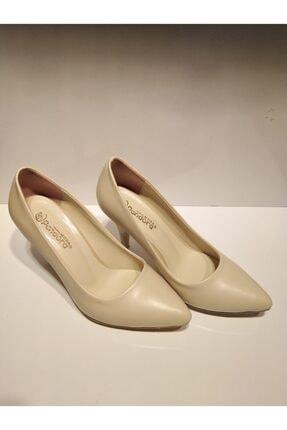 Pandora Kadın Bej Stiletto Cild Deri Ayakkabı Y20 11905 1