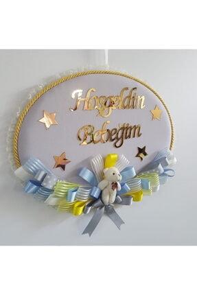 Baby Design Keten Ayıcıklı Bebek Kapı Süsü 1