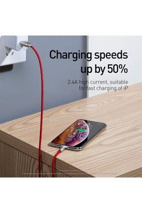Baseus Iphone 2.4a Hızlı Şarj Lightning Şarj Ve Data Kablosu 2