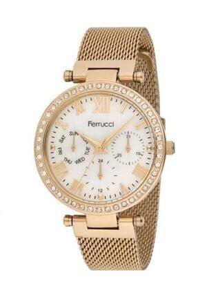 Ferrucci Çelik Ayarlanabilir Hasır Kordon Kadın Kol Saati 0